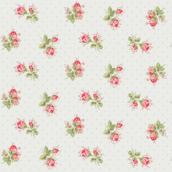 Cath Kidston Rose Sprig White sample