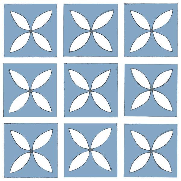 Dee Hardwicke Cornflower Blue sample