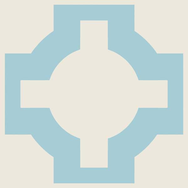 Neisha Crossland Parquet Sky Blue sample