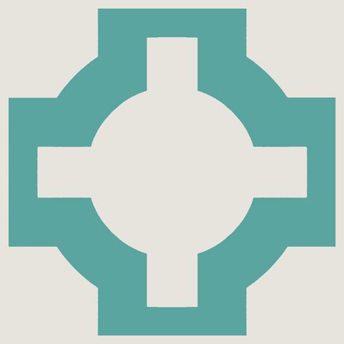 Neisha Crossland Parquet Turquoise sample